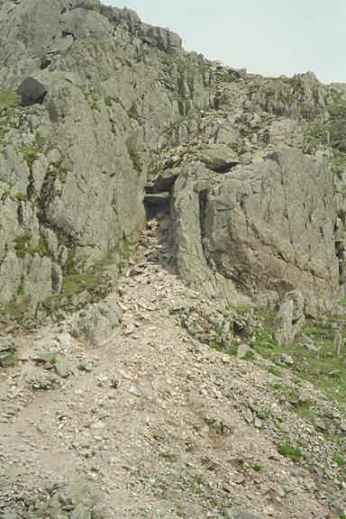 Crinkle Crags - The Approach to the Bad Step
