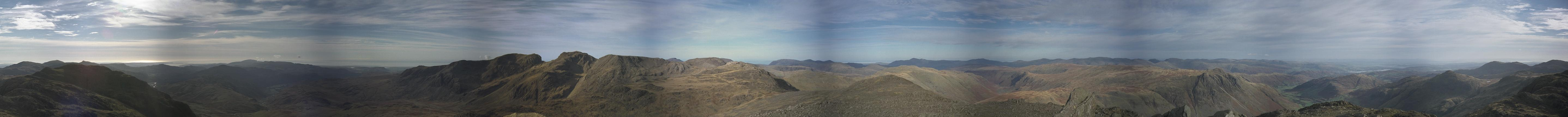 Bowfell - Complete Panorama