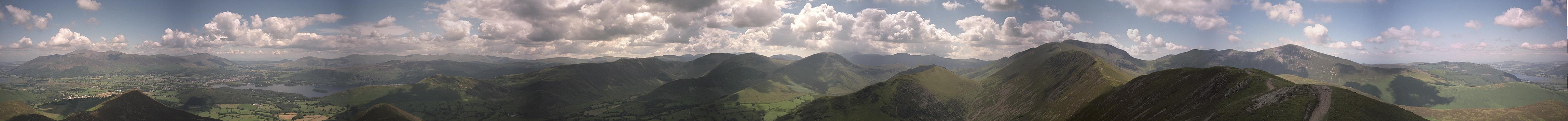 Causey Pike - Complete Panorama