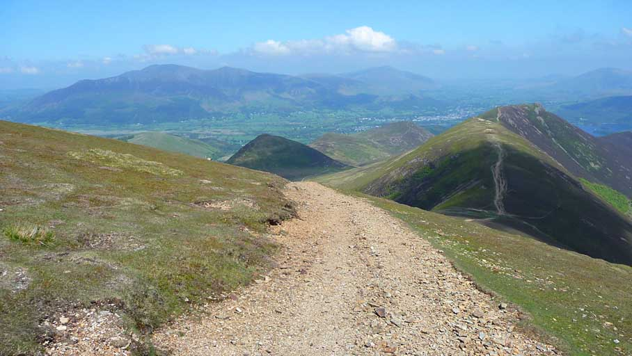 Scar Crags and Causey Pike from Sail