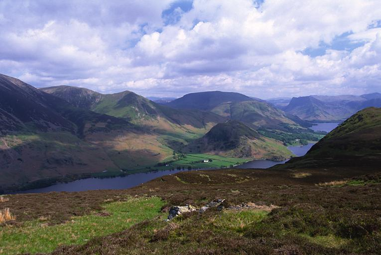 Across Crummock Water from Mellbreak North Top
