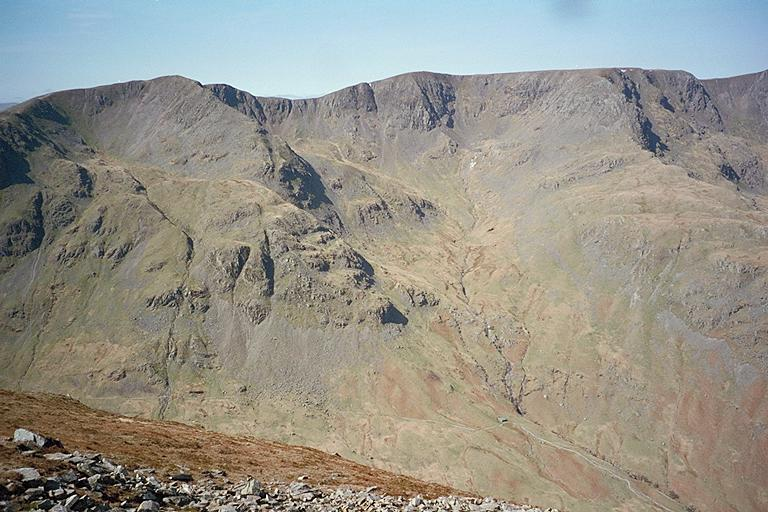 Dollywagon and Nethermost Pikes from Deepdale Hause