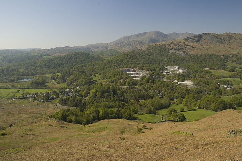 Elterwater from Dow Bank
