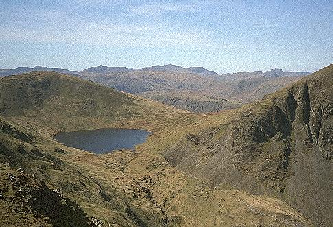 Grisedale Tarn from Deepdale Hause