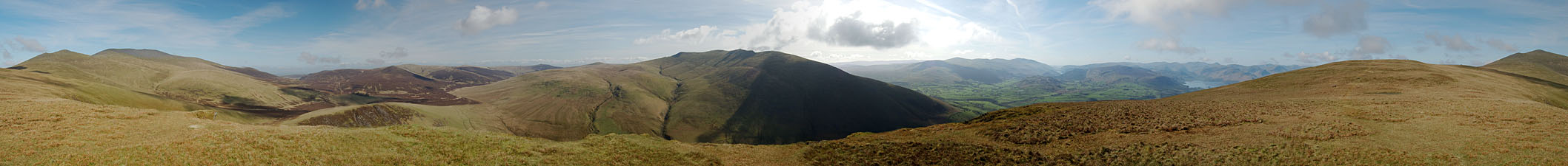 Lonscale Fell - Complete Panorama