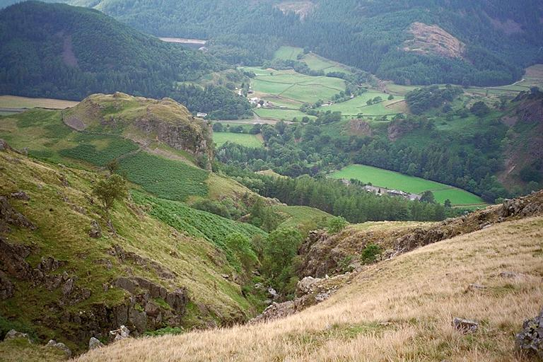 Mill Gill Ravine from the Open Fell Above