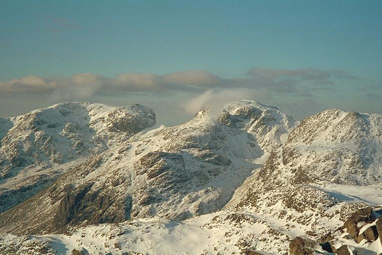 The Scafells from Bowfell