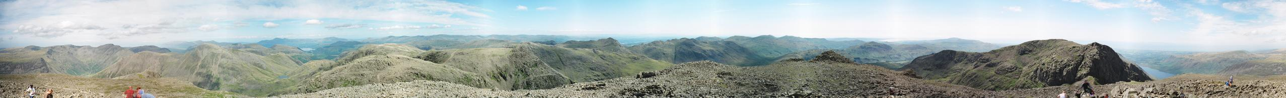 Scafell Pike - Complete Panorama
