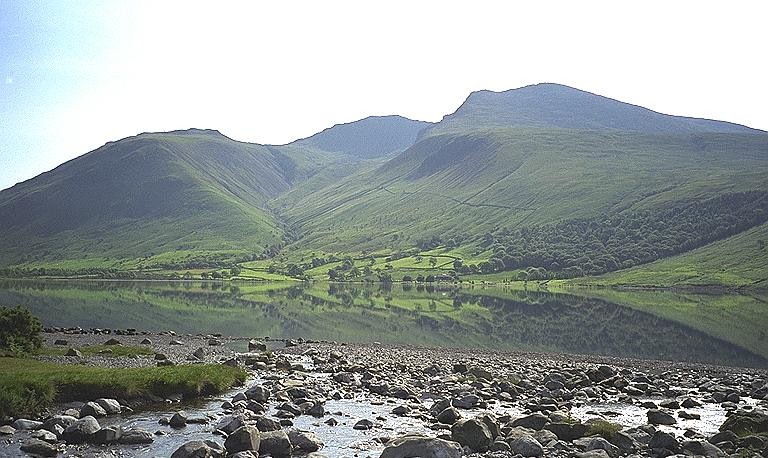 Scafells from Overbeck Bridge